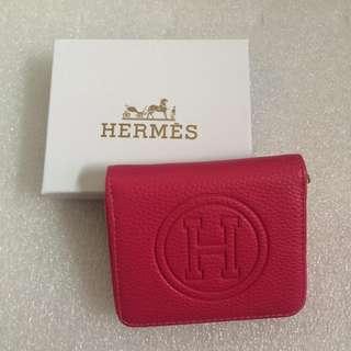 Hermes Half Wallet Red