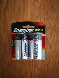 勁量鹼性電池 - D電 / Energizer D-Battery