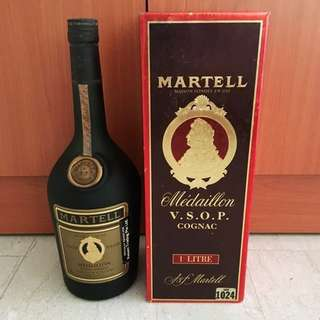 30+ years Vintage Martell Medaillon VSOP Cognac 1L