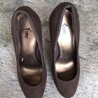 Brown Velvet Heels