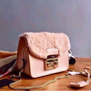 FURLA FUR DETAIL CROSSBODY AUTHENTIC