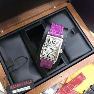 Franck Muller 女款鱷魚皮手錶