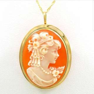 18k Cameo Brooch / Necklace
