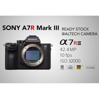 Sony A7R III Mirrorless Body Only READY STOCK (Free 64GB UHS-II SD Card + Extra Battery)  **2 Units Special CNY PROMO**