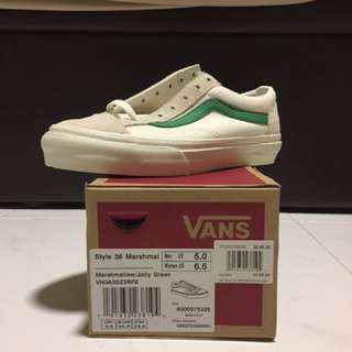 Marshmellow Vans Green