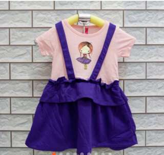 OVERALL DRESS FLOWERKIDS (2,3,4Y)