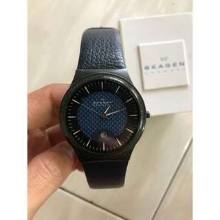 Original Skagen Men Leather Watch Like New