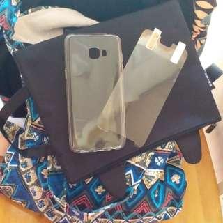 samsungC5透明手機殼+手機mon貼