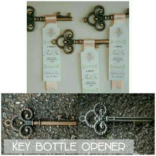 Key bottle opener.Wedding Souvenir.Key chain
