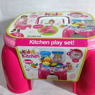 Kitchen Play Set Portable ChairWith Lights And Sound