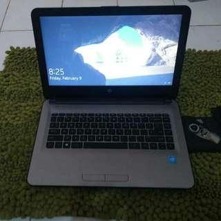 Laptop HP 14 like new bisa maen PES 2017