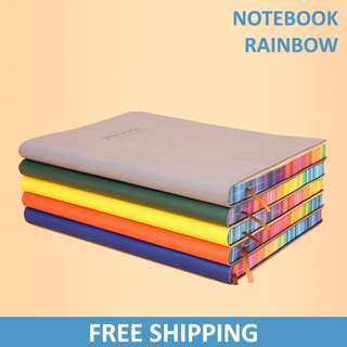 Rainbow Paper Notebook / Diary