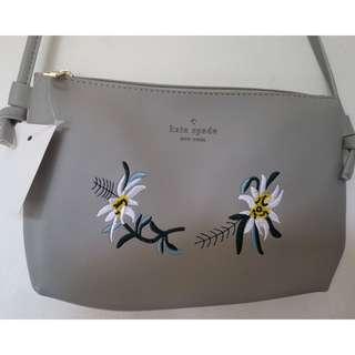 Kate Spade Sling Bag Silver
