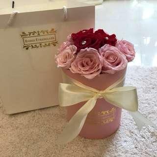 [Roses Éternelles] Preserved Roses In Medium Round Box