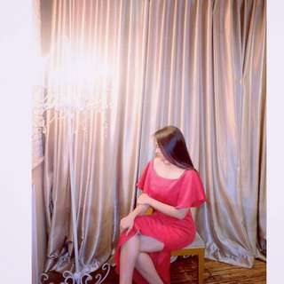 Longdress Bebe merah
