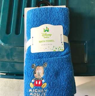 Disney baby towel and blanket combo