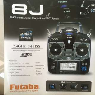 FUTABA T8J 8-CHANNEL 2.4GHZ RADIO SYSTEM WITH R2008SB RECEIVER