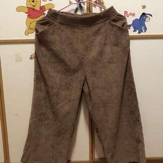 復古 古著  燈芯絨寬褲
