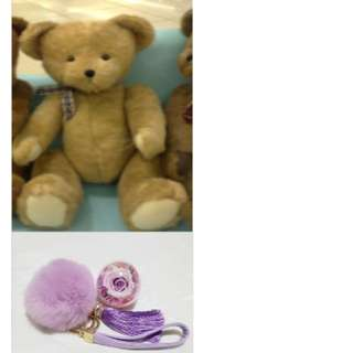 Special Promo Valentine's Preserved Rose Bag Cham With Teddy Bear Gift Set