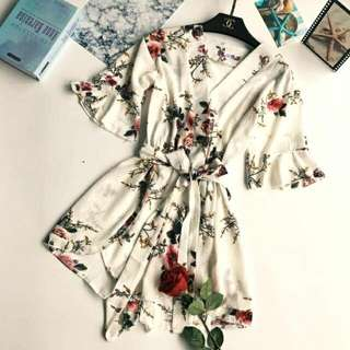BRAND NEW w Tag - FLORAL PLAYSUIT