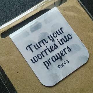 Bible verse magnetic bookmark