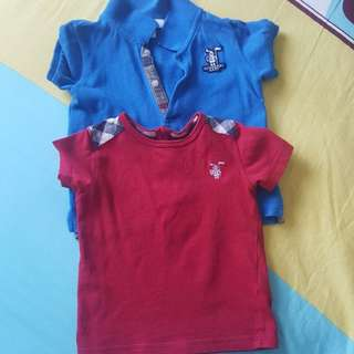 Burberry tshirt and shirt (2pcs)