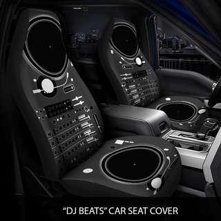 DJ Beats Car Seat Cover