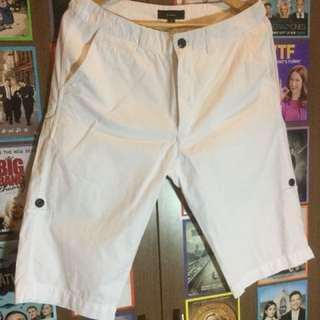 Bossini White Foldable Shorts