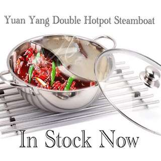 Double sided Yuan Yang Steamboat Hot Pot - Induction Ready!
