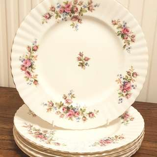 Royal Albert Moss Rose dinner plates
