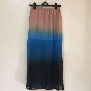Forever 21 ombre maxi skirt