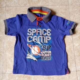 Mothercare space camp polo shirt