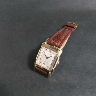WlTTNAUER 14K金殼小三針古董錶(19x28mm)