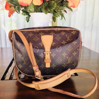 Authentic Vintage Louis Vuitton Jeune Fille Monogram Leather Crossbody Bag PM