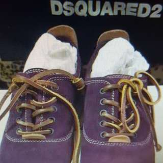 Dsquared 2 leather shoes 麂皮
