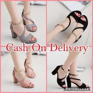 Korean Chunky Block Heels Sandal Shoes