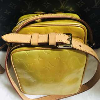 Authentic Vintage Louis Vuitton Wooster Crossbody Bag yellow