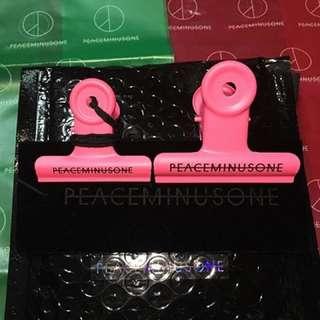絕板peaceminusone bulldog clip pink粉紅色全新連包裝有單