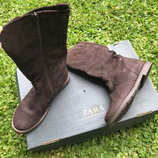 ZARA real leather kids boots size 33