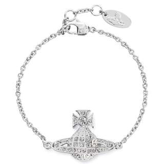 VIVIENNE WESTWOOD Minnie Orb silver tone bracelet