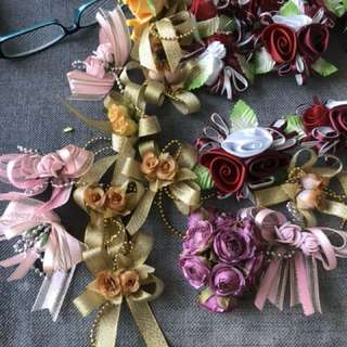 Decorative flowers for sewn on or corsages delivery by mail