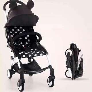 3 folds stroller