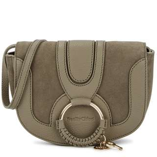 SEE BY CHLOÉ Hana mini leather and suede cross-body bag