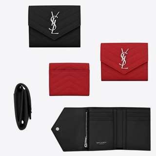 YSL Monogram Compact Tri-fold Wallet