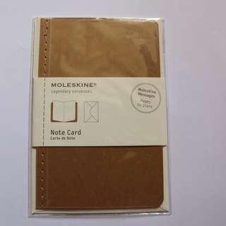 Moleskine Note Card With Envelope Pocket Kraft