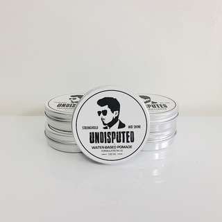 [INSTOCKS] [2 For $20] Undisputed Water Based Pomade| MEDIUM SHINE STRONG HOLD