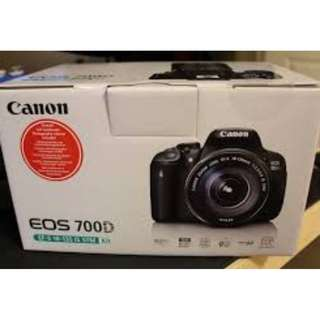 Nyicil Canon 700D kit free memory card + uc vfilter + tas