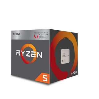 BNIB - AMD Ryzen 5 2400G Processor with Radeon RX Vega 11 Graphics