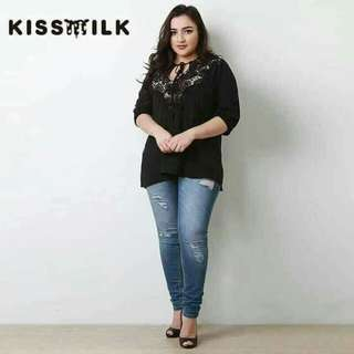 Black Lacey Big Size Top