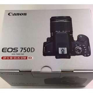 Nyicil Canon 750D kit BONUS memory card + uv filter + tas